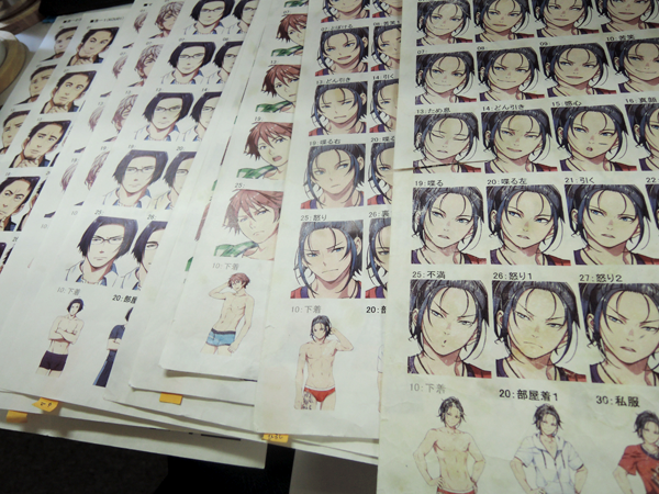 Sprite reference sheets used during production.