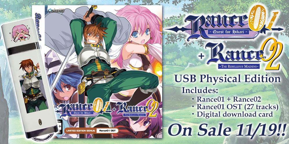 Rance 01 + 02 Limited Edition Hardcopy Now Available for Pre-order!